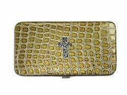 Green Croc Embossed Wallet - Croc Embossed Wallet