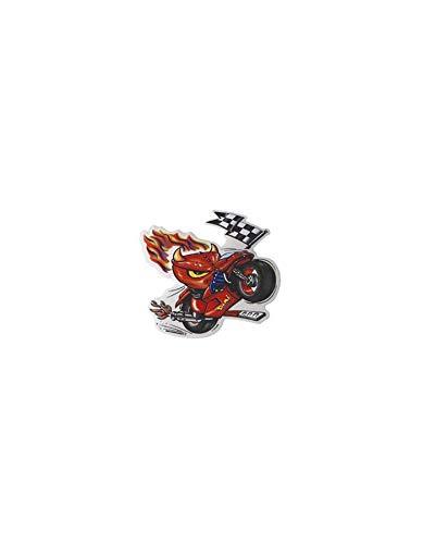 WACOX Autocollant Diable en Moto (10cm)