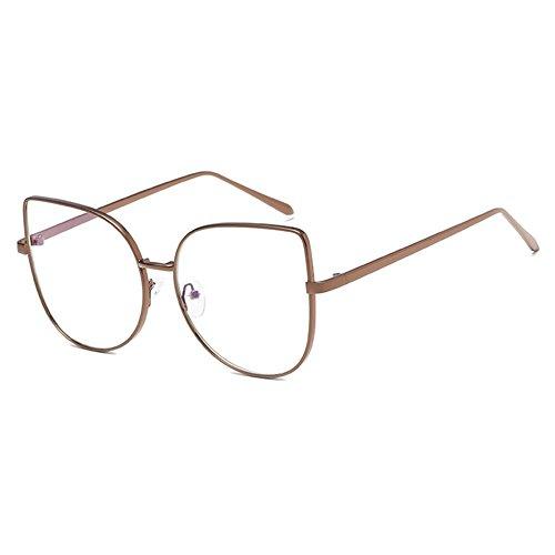 Hibote Männer Frauen Cat Eye Brille - Klare Linse Brillengestell - Mode Brillen Eyewear 122907