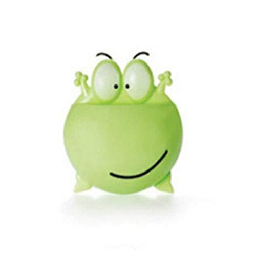 Niedlicher Cartoon Frosch Wandspiegel mit Saugnapf zur Befestigung von Zahnbürsten und Behältern