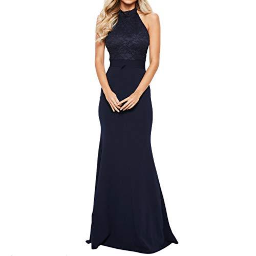 Jiameng abito rosa da donna sexy con schiena aperta in pizzo abito da sposa gonna a coda di pesce vestito in camicetta di cotone con scollo a v casual casual blu scuro 2xl