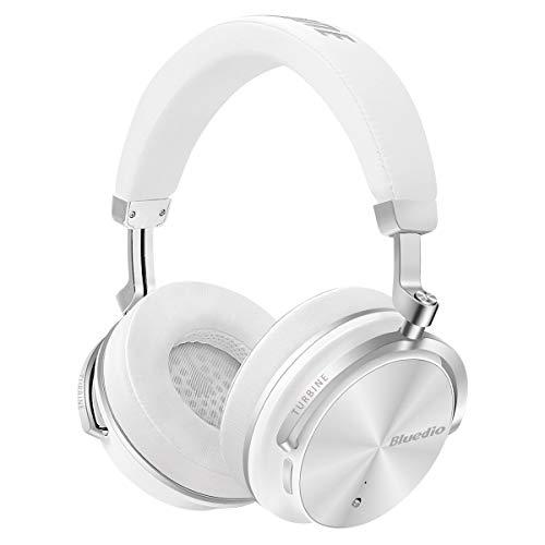 Bluedio t4s (turbine) - cuffie over-ear bluetooth orientabili con cancellazione attiva del rumore e microfono (bianco)