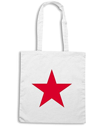 T-Shirtshock - Borsa Shopping TCO0135 stella rossa red star Bianco