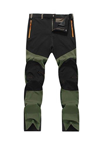 Geval Randonnée De plein air Pantalons de séchage rapide Hommes armée verte