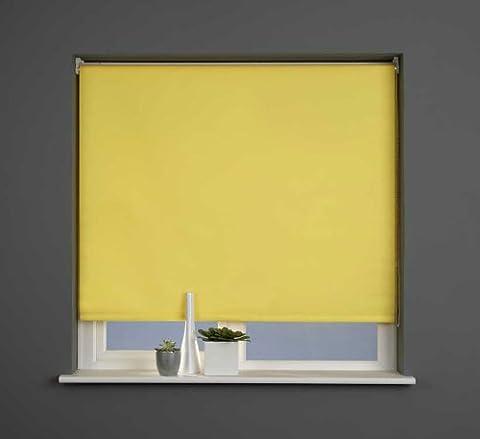 Sunlover - Store enrouleur uni Straight Edge - jaune soleil - 90 cm (largeur)