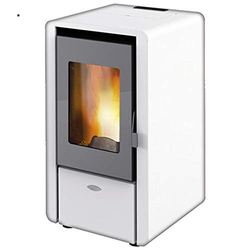 STUFA A PELLET 5,8 KW KING 6 COLORE BIANCO MADE ITALY