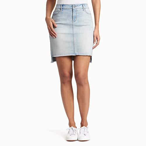 Black Daisy Damen Sharkbite Hem Mini Skirt Strickrock, Lennon, 47 - Hem Mini Skirt