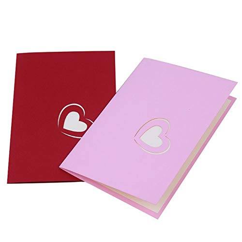 10pcs/Pack 3D Pop up Handmade Grußkarten Jahrestag Baby Geburtstag Ostern Mutter Vater New Home NEW YEAR Thanksgiving Valentine Hochzeit Weihnachten I love you Rot Pink 5 Blätter / 10 Blätter