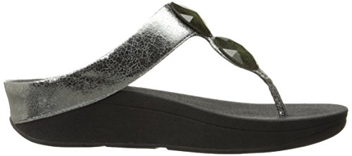 FitFlop Pierra Tm, Infradito Donna Argento (Pewter)