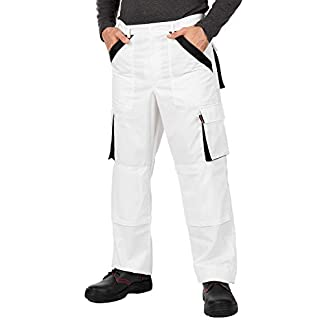 Pantalones de Trabajo para Hombre, Made in EU, Refuerzo y Acolchado en Las Rodillas, Pantalones Cargo