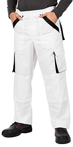 Mazalat® Pantalons de Travail pour Hommes avec des Poches genouillères, Pantalon Cargo Homme Multi Poches, Made in EU (XL, Blanc)