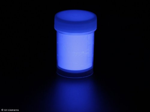 Unsichtbares Markierungspulver 25g - blau - Schwarzlicht, Farbpulver, UV, Neon -