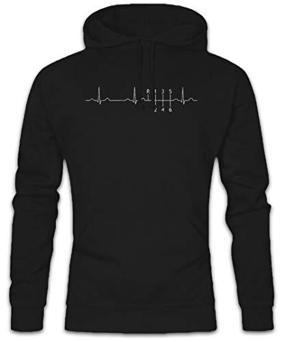 Heartbeat Gear Shift Hoodie Kapuzenpullover Sweatshirt Größen S - 2XL Drifter Shift