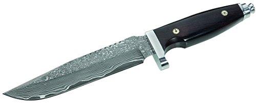 Herbertz gRÄWE couteau lame en acier 71 couches, damas, bois d'ébène-manche Mosaikpins en acier inoxydable-protection pour les doigts, fourreau en cuir