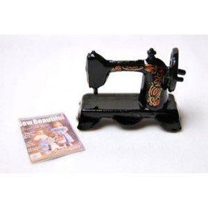 Dollhouse Sewing Machine W Magazine by Superior Dollhouse Miniatures