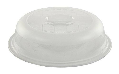 Rotho Mikrowellenabdeckhaube, Kunststoff, Transparent, 26.5 x 26.5 x 6.5 cm