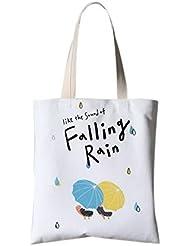 Illustration de fleurs de style japonais Sac à bandoulière Travel Shopping Bag Chutes de pluie