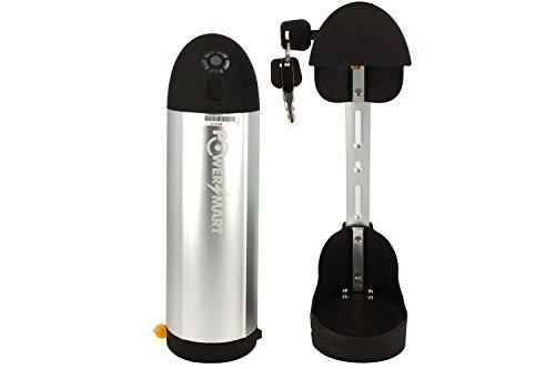 PowerSmart® Panasonic Zellen Akku Batterie für E-Bikes Trinkflaschen-/Bottle Akku 36V Li-ionen 11,6Ah 418Wh, inkl. Halterung
