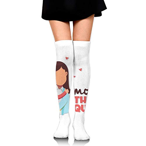 Mommy The Queen Mom Hold Baby Customized Long Full Length Socks for Running, Sports, Travel, Cycling, Traveling 25.6 Inchs Black - Home Health Care-queen