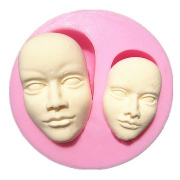 TEN-G Bakeware & Accessories - Human Face Silicone Fondant Mold Chocolate Polymer Clay Mould - Human Face Silicone Mold Molds Clay Mould Fondant Silicon - 1PCs (Mole Day Halloween)