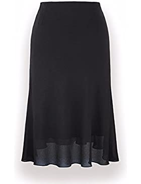 QPSSP-nieve Lado High-Waist tejida, una palabra larga falda falda Mujer Torso