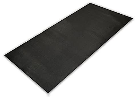 Universal purpose Luxury Fitness Rubber Mat for treadmills and other equipments (Large)