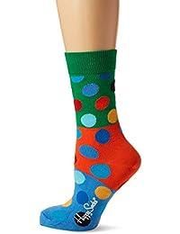Happy Socks Big Dot Block Sock, Calcetines Casual para Mujer (Pack de 6)