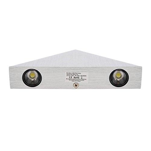 LESHP Lampada Da Parete Applique 3 LED Muro Corridoio Illuminazione Decorativa Interno 3 X 1W (Illuminazione interna)