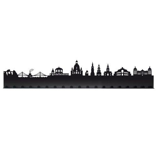 Radius Städte Garderobe Stadt Dresden schwarz 19 Haken - 709b1