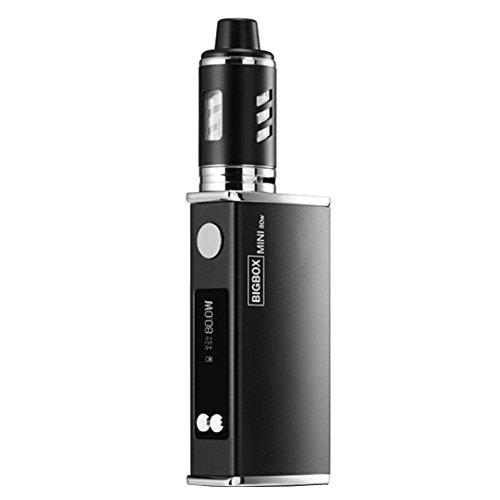 Yeleo Trosetry E Zigarette Starter Set, E Shisha Set 80W Box Mod 2200mAh Batterieträger 0,3ΩOhm USB Wiederaufladbare E Zigarette Smok Kein Nikotin(schwarz)