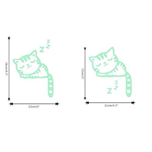 Huaya Süß Kreativ Kätzchen Katze Leuchtend Nachtleuchtend Schalter WandAufkleber