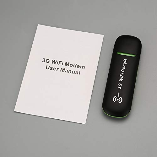 fdghhgjgtkuyiuy 3G Mobile WiFi Hotspot Auto USB-Modem Universal Breitband Mini-WLAN-Router Mifi-Dongle mit SIM-Kartensteckplatz schwarz (Breitband-modem Wlan -)