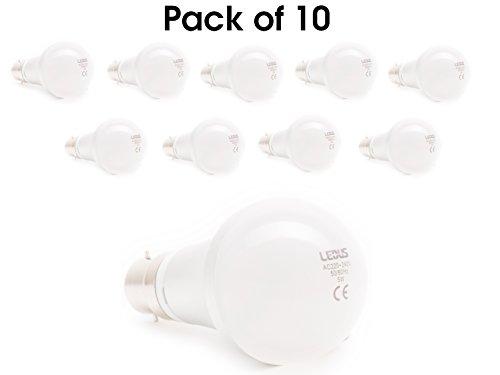 Lot de 10 Ampoule LED B22 SMD ledus Ampoule Premium Qualité avec garantie 5 ans, b22, 3.0 wattsW