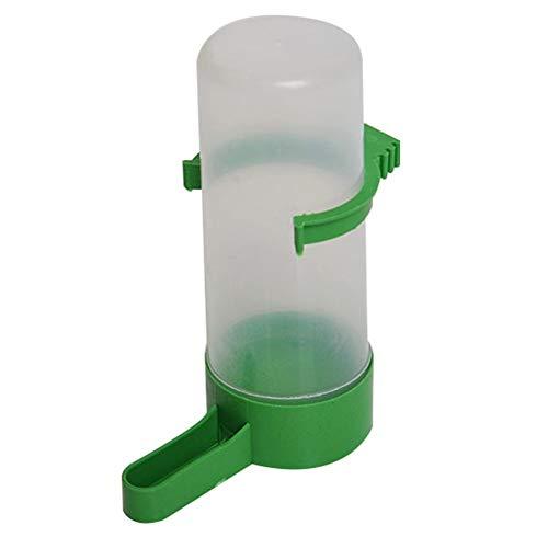 Fliyeong 1x Vogel Wasserflasche Wasser Futterautomat Dispenser Wasserschale für Vögel Papageien African Grey Wellensittich Nymphensittich Käfig Zubehör Langlebig und praktisch