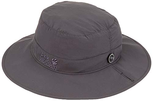 Jack Wolfskin Supplex MESH HAT Hut, Dark Steel, M (Jack Wolfskin Hut)