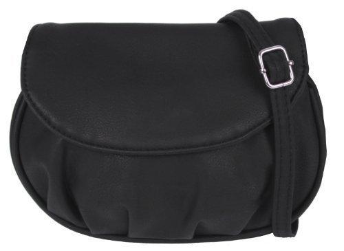 Kleine Handtasche, Ausgehtasche Schultertasche (schwarz)