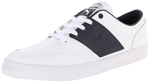 Puma El Ace 4 L Lace-up Fashion Sneaker White/New Navy