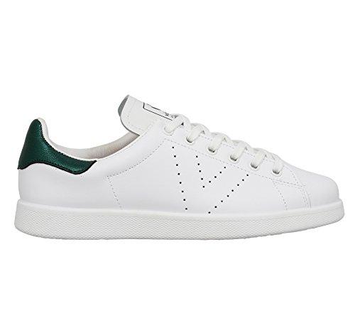 Victoria Deportivo Basket Piel, Sneakers Basses mixte adulte Blanc