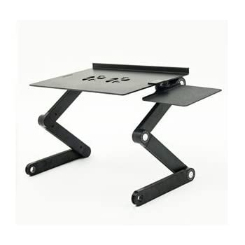Uncaged Ergonomics Laptop Standing Desk With Mouse Pad Adjustable