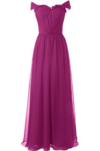 ivyd ressing Femme Moderne A ligne à partir de la épaules Party robe longue Prom robe robe du soir Fuchsia