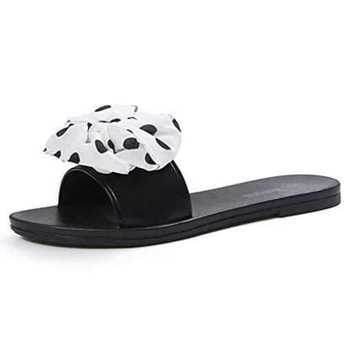 internet_Sandalias y zapatillas de playa para mujer,plano con lazo y zapatillas Para Caminar Playa,Chanclas Indoor & Outdoor de Arco de Impresión de lunares, Flip Flops/Sandals Antideslizantes Piscina