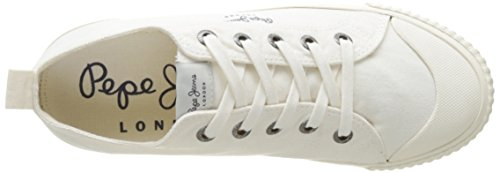 Pepe Jeans London Industry Low Basic, Scarpe da Ginnastica Basse Donna Bianco (Off White)