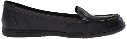 Hush Puppies Women's Ryann Claudine Chocolate Leather Loafer 5.5 M (B) Black