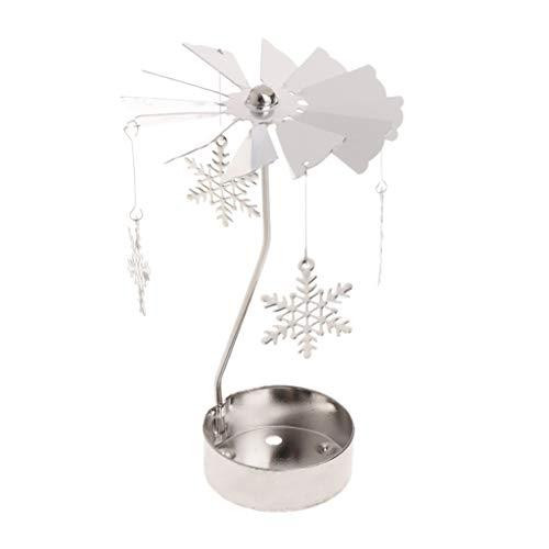 Yanhonin Kerzenhalter, drehbar, Metall, Karussell, perfekt für Weihnachten/Hochzeit, Innendekoration 05