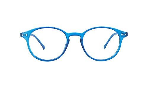 My Blue Protect® Brille Schutz gegen blaues Licht, gegen Müdigkeit, mit UV-Filter(W001), Bleu Jeans Mat