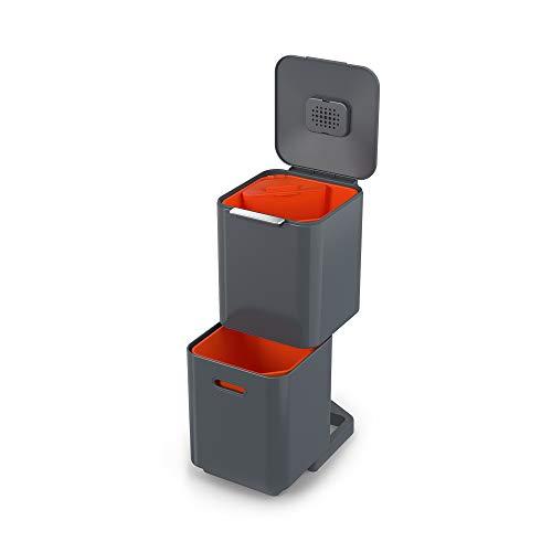 Unité de Séparation des Déchets et de Recyclage Joseph Joseph totem Compact 40 litres - Graphite