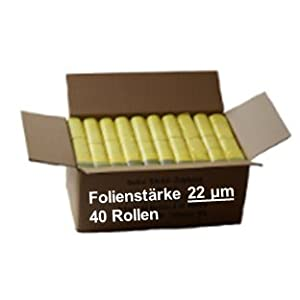 Gelber Sack – Ein Karton mit 40 Rollen (520 Gelbe Säcke) – 22 µm Folienstärke