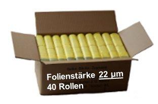 *Gelber Sack – Ein Karton mit 40 Rollen (520 Gelbe Säcke) – 22 µm Folienstärke*