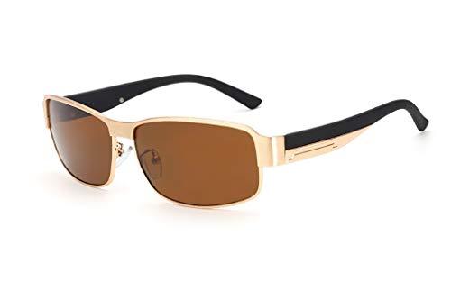 KISlink Sonnenbrillen Polarisierte Sonnenbrillen/Herren Sonnenbrillen/Quadratischer Fahrspiegel Metall Sonnenbrillen/Angelbrillen Brillen (Farbe: 4)