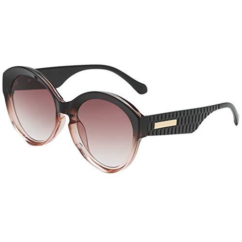 QUINTRA Sonnenbrille im Vintage-Stil Unisex Rubber Mirrored Irregular Form Sonnenbrille Brille